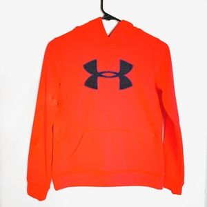 Under Armour neon hooded sweat shirshhirt